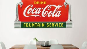 Coca Cola Wall Murals Drink Coca Cola Fountain Service Taps Wall Decal Deco Style
