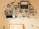 College Wall Murals Puter Technology Wall Decal Vinyl Sticker Science Education Home
