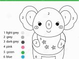 Color by Number Animal Coloring Pages Children Educational Game Coloring Page with Cute Koala