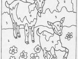 Color by Number Animal Coloring Pages Geiten with Images
