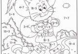 Color by Number Cat Coloring Pages Colour by Number Addition and Subtraction Addition and