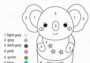 Color by Number Coloring Book Game Children Educational Game Coloring Page with Cute Koala