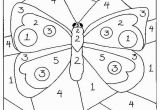 Color by Number Coloring Pages Easy Color by Numbers butterfly Coloring Pages for Kids Printable