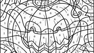 Color by Number Coloring Pages for Halloween Color by Number Halloween Pumpkin Stock Illustration