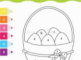 Color by Number Easter Coloring Pages Easter Drawing Game Color by Numbers Printable Worksheet