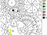 Color by Number Turkey Coloring Sheet 17 Best Color by Number Images