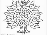 Color by Number Turkey Coloring Sheet Spanish Printable Coloring Pages