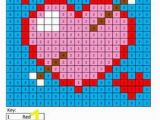 Color by Number Valentines Day Coloring Pages Holiday Color by Number