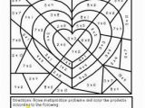 Color by Number Valentines Day Coloring Pages Valentine S Day Multiply and Color Activity with Images
