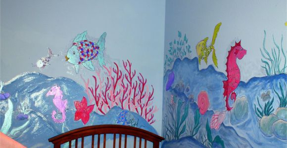 Color by Number Wall Mural Dorisann S Designs Rainbow Fish