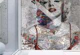 Color by Number Wall Mural Pop Art Wallpaper Marilyn Monroe Wall Mural Typographie Wall