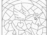 Color Coded Coloring Pages Kindergarten Free Printable Magical Unicorn Colour by Numbers Activity for Kids
