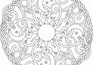 Color Pages for Adults Easy Celestial Mandala Box Card and Coloring Page