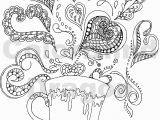 Color Pages for Adults Hearts Coloring Pages Hearts with Ribbons Unique Awesome Coloring Page