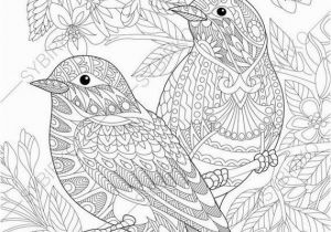 Colorado State Bird Coloring Page Coloring Pages for Adults Love Birds Spring Flowers Blossoming