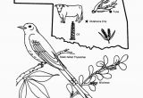 Colorado State Bird Coloring Page Oklahoma State Outline Coloring Page Free Worksheets