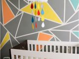 Colorful Mural Ideas Archer S Colorful Nursery with Geometric Elements