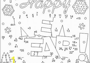 Coloring Dot to Dot Pages New Year Greeting Connect the Dots and Coloring Page Cu