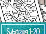 Coloring Fun Color by Number Games Subitizing Numbers 1 20 Color by Code and Games with Images