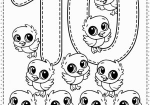 Coloring Number Pages for Kindergarten Number 10 Preschool Printables Free Worksheets and