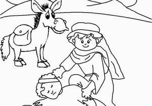 Coloring Page Good Samaritan Good Samaritan Drawing Coloring Page Netart Church