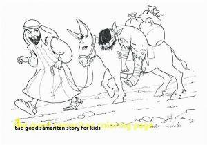 Coloring Page Good Samaritan the Good Samaritan Story for Kids Good Samaritan Coloring Page