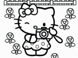 Coloring Page Hello Kitty Flowers Free Kitty Coloring Pages Hello Kitty is A Fictional