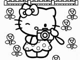 Coloring Page Hello Kitty Flowers Hello Kitty Info Coloring Home