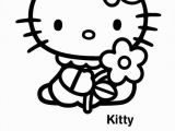 Coloring Page Hello Kitty Flowers Hello Kitty