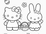 Coloring Page Hello Kitty Flowers Pin On Easter