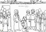 Coloring Page Jesus Heals Ten Lepers Coloring Page Jesus Heals Ten Lepers