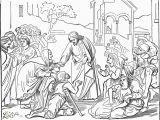 Coloring Page Jesus Heals Ten Lepers Jesus Heals Coloring Page Eskayalitim