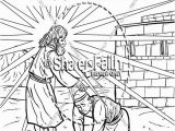 Coloring Page Jesus Heals Ten Lepers Romans Road Sunday School Coloring Pages