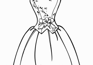 Coloring Page Of A Dress Barbie Dress Coloring Page for Girls Printable Free