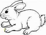 Coloring Page Of A Rabbit Bunny Cutouts to Print Free