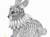 Coloring Page Of A Rabbit Drawing Zentangle Rabbit for Coloring Page Shirt Design Effect