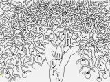 Coloring Page Of An Apple Tree Best Easy Apple Tree Coloring Page