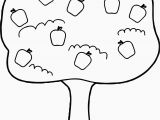 Coloring Page Of An Apple Tree Preschool Coloring Pages Animals