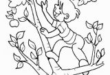 Coloring Page Of An Apple Tree the Child Apple Picking the Apple Tree Coloring Page