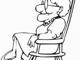 Coloring Page Of Chair Grandma Coloring Pages for Kids