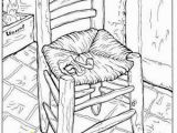 Coloring Page Of Chair Van Gogh Coloring Pages Leonardo Da Vinci