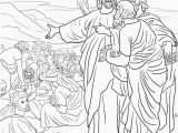 Coloring Page Of Jesus Feeding the 5000 Jesus Feeds the 5000 Coloring Page
