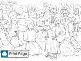 Coloring Page Of Jesus Feeding the 5000 Jesus Feeds the 5000 Coloring Pages for Kids Printable