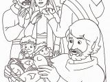 Coloring Page Of Jesus Feeding the 5000 New Jesus Feeds Five Thousand Coloring Page