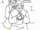 Coloring Page Of Paul 158 Best Drawings Line Images