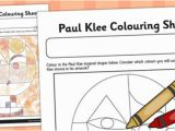 Coloring Page Of Paul Paul Klee Colouring Sheet Paul Klee Colour Colouring Art