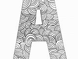 Coloring Page Of the Letter A Coloring Page Letter A with Pattern Of Circles Coloring for