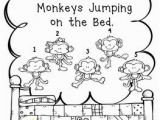 Coloring Pages 5 Little Monkeys Jumping Bed Five Little Monkeys Jumping On the Bed by English Plans to