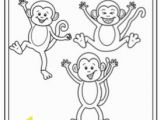 Coloring Pages 5 Little Monkeys Jumping Bed Five Little Monkeys Jumping On the Bed Printable by