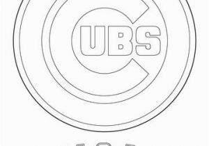 Coloring Pages Baseball Team Logos Chicago Cubs Logo Coloring Page